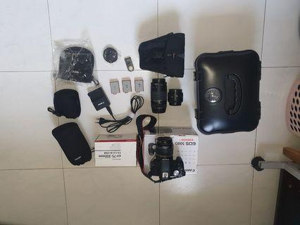 Canon 500d with FREE 3 lens and more freebies