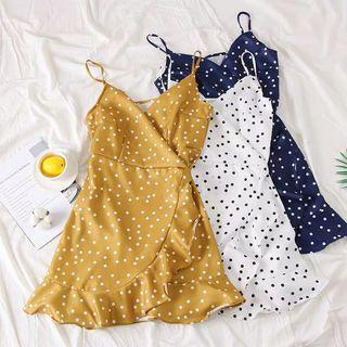 [PO] Vienne Clover Dots Ruffle Spag Dress