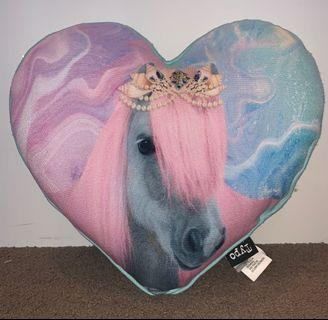 Pastel Unicorn Heart-Shaped Pillow and Watermelon Pillow