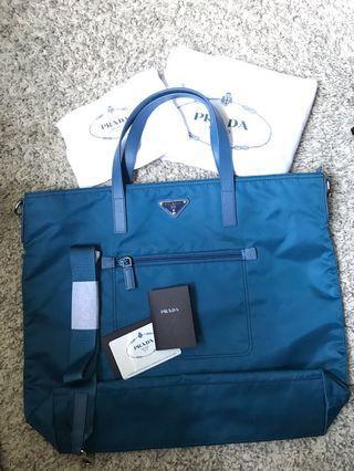 🚚 🔥 $590 ONLY!! BN - Prada Cobalt Tessuto Nylon Bag/detachable crossbody sling