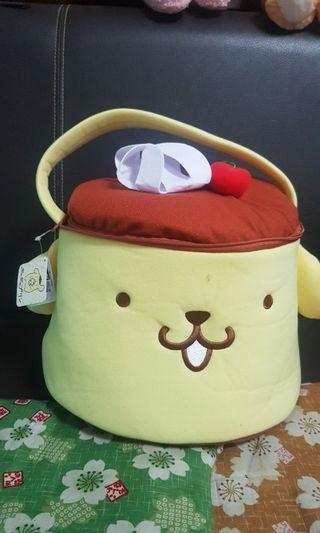 Pom pourin soft toy bag