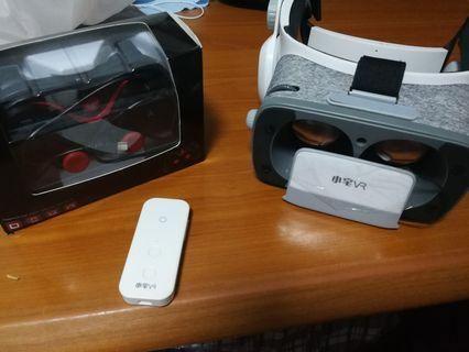 Vr headset for phone with remote and controller