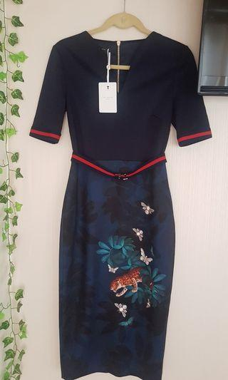 2986c114a New Ted Baker Dress with Belt