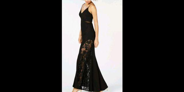 Betsy and Adam black formal evening gown