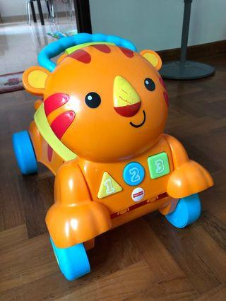 🚚 Preloved Fisher Price riding and walker toy