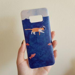 Samsung S8 Cat & Fish Soft Cover