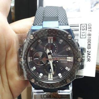 Jam Tangan Pria Casio G-SHOCK GST-B100XB-2ADR Black Original Murah