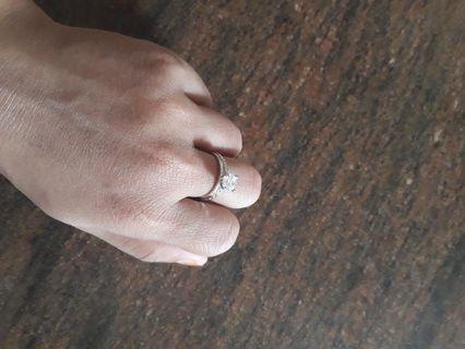 Cincin emas putih 375%