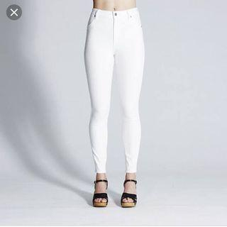 Wrangler high tops white jeans 7