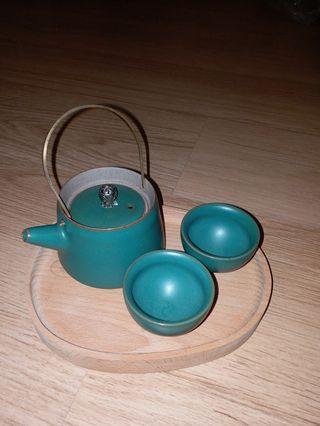 日本茶壺茶杯套