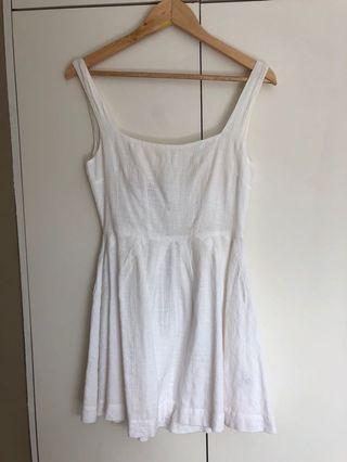Tigerlily white dress - low back mini