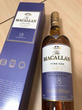 Macallan 18 Fine oak 麥卡倫 黃金三桶 Triple cask