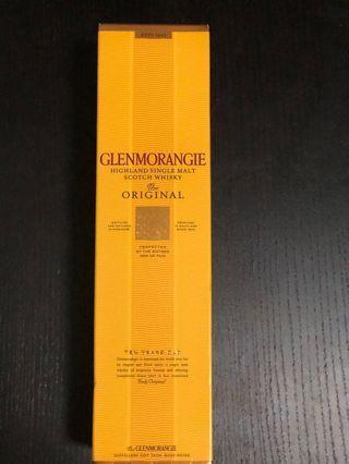 🚚 wisky 10 year Glenmorangie 10 year old