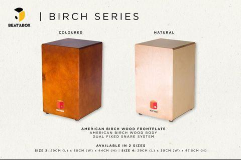 🚚 American Birch Wood Series Cajon