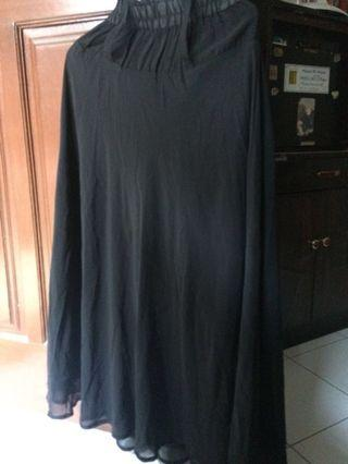 Rok panjang sifon hitam / black skirt