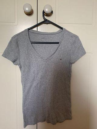 Tommy Hilfiger Grey V Neck Top