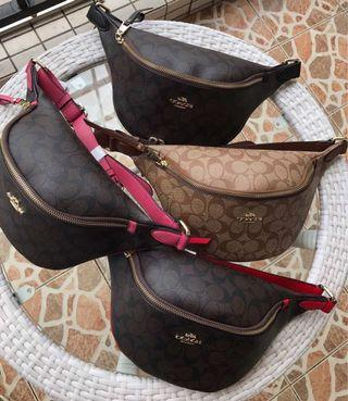 COACH 48740 48738 新款女士腰包 胸包 潮流時尚 多色可選 運動型 附購證