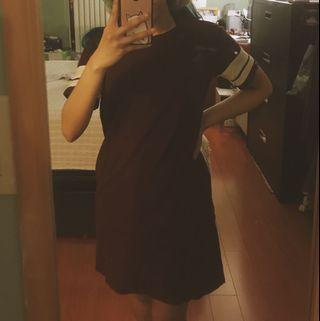 Maroon Tshirt Dress (F21)