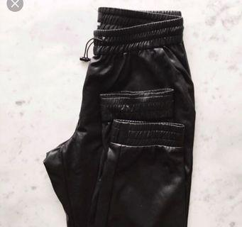 Aritzia Vegan Leather Joggers