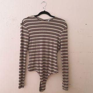 Brand New American Apparel Striped Bodysuit