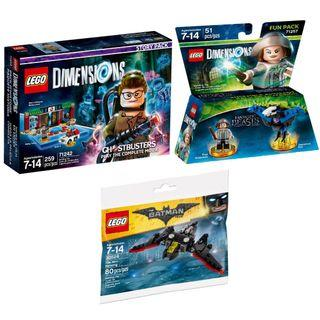 LEGO Dimensions Ghostbusters Story Pack 71242, Tina Goldstein 71257 & Free Batwing Polybag 30524