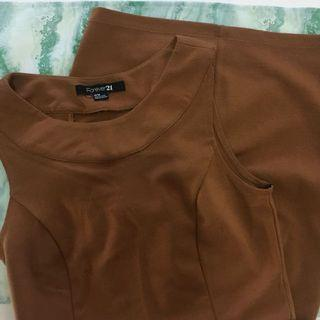 Brown dress by Forever21