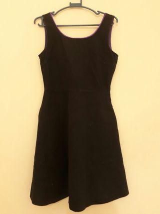 Petit Monde Black Sleeveless Dress Low Back - Small