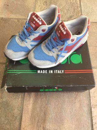 sports shoes 511d9 72d4e Diadora N9000 made in Italy silver lake blue Tibetan red