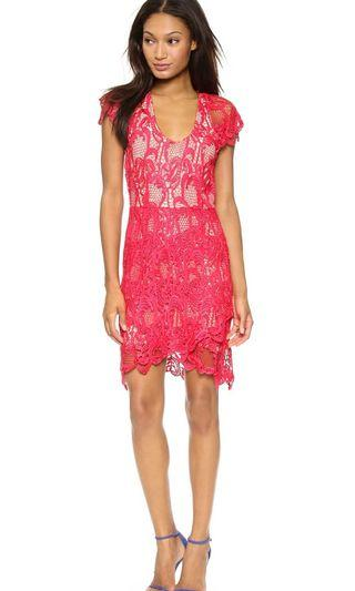 Madison Marcus Humanity Lace Dress - Red #EST50