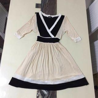 Tri colour dress