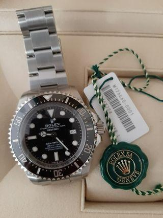 🚚 2018 ROLEX Deepsea Black Dial Automatic's Stainless Steel Oyster Watch