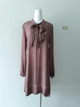 意大利製精品顯瘦絲質連身裙