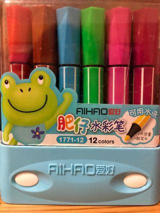 肥仔水彩筆12色