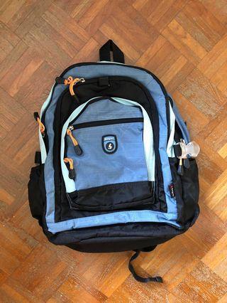 Shayrer blue / black backpack #endgameyourexcess