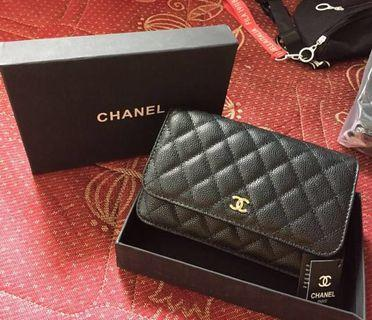 Chanel WOC authentic leather with box
