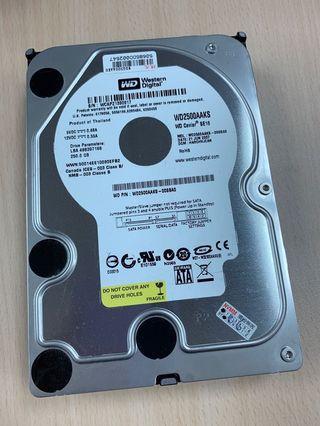 WD SATA硬碟250G