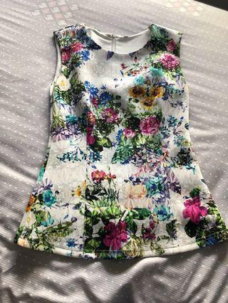 Neoprene floral top