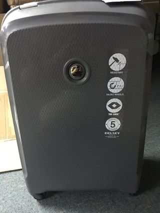 Delsey Luggage belfort grey matt silver super lightweight 70 cm medium