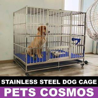 🚚 Stainless Steel Cage for Medium / Large Dogs