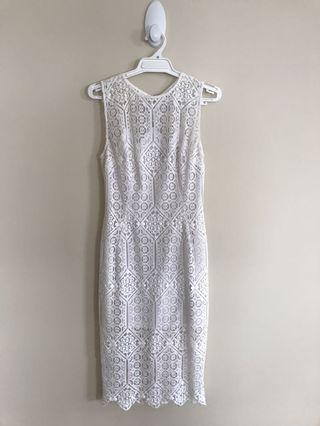Marciano White Lace Dress - Postage Included