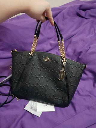 NEWSTOCK!!! Coach Small Leather Kelsey Chain Handbag 100% Authentic