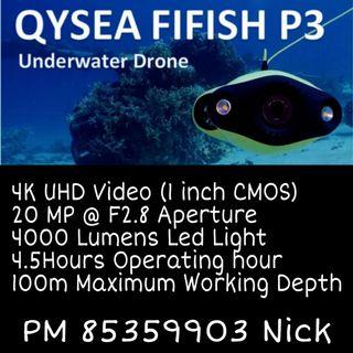 FiFish P3 4K UHD Under Water Drone