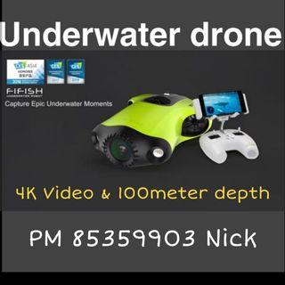 Qysea FiFish P3 UnderWater Robot (4K UHD, 20MP@F2.8, 100meter depth)