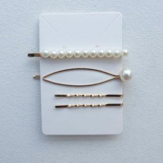 🚚 Pearl gold hair pin