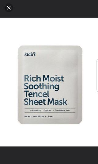 Klairs Rich Tencel Sheet Mask