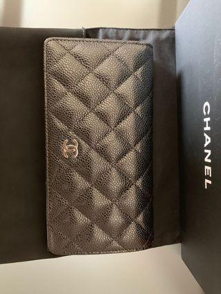 全新Chanel銀包(有單,有咭,有盒,全齊)