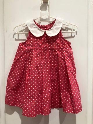 Baby Gap Pink Polka Dot Dress
