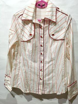 🚚 Rola dolls 直條紋長袖襯衫100%純棉