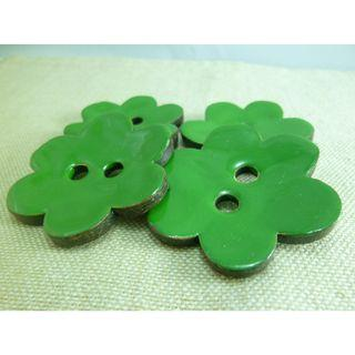 CB12026 - 50mm Big Flower Shaped Coconut Button, Coconut Buttons (2 pieces)  #craft