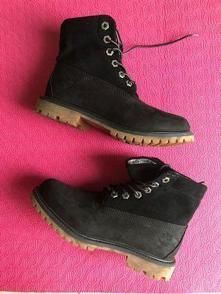 Timberland 女款印花造型反折靴 5.5  99%新
